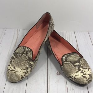 GAP snake print leather slip on loafers